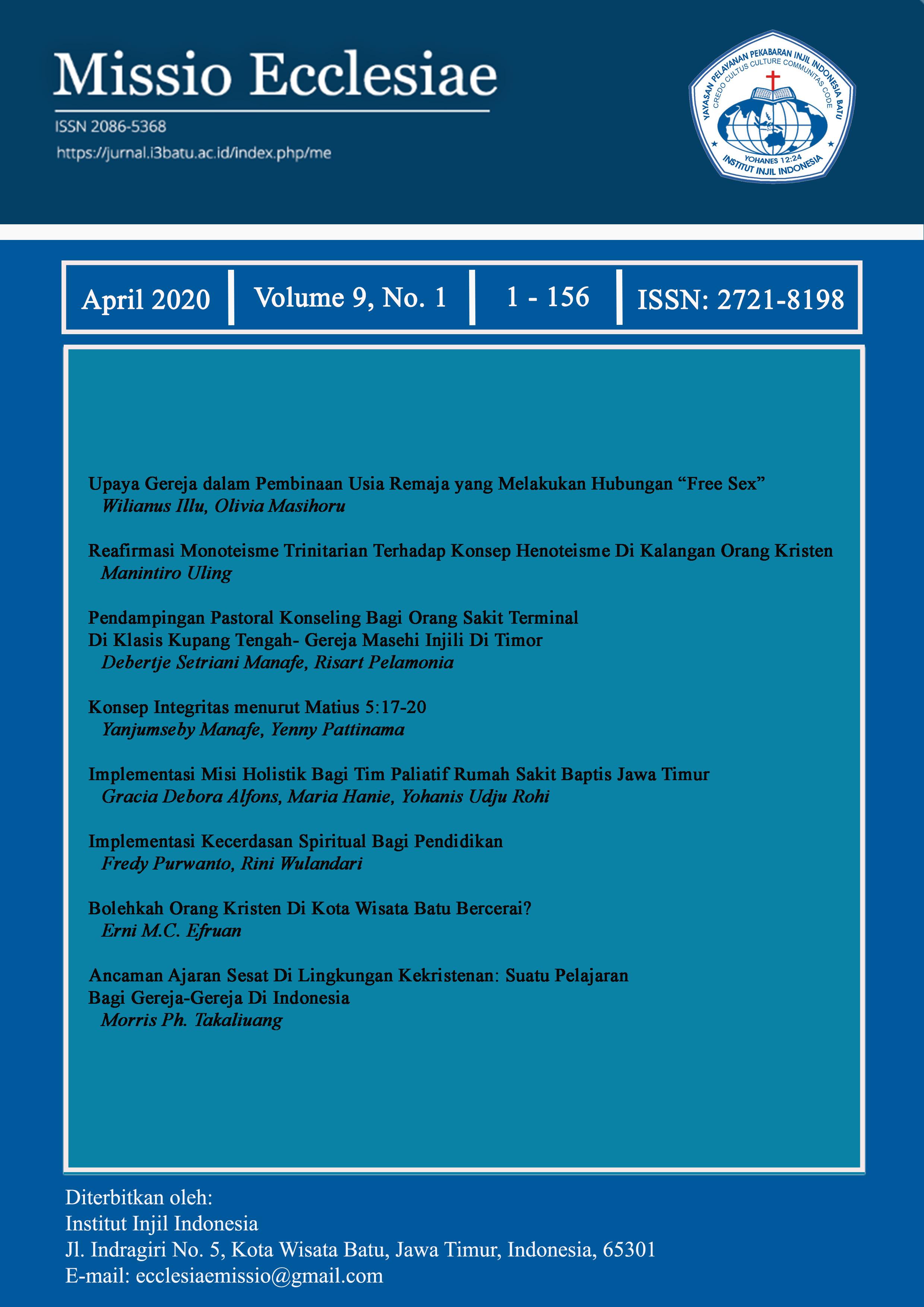 View Vol. 9 No. 1 (2020): April